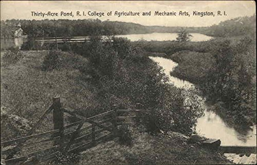 Rhode Island College of Agriculture and Mechanic Arts - Thirty-Acre Pond Original Vintage Postcard