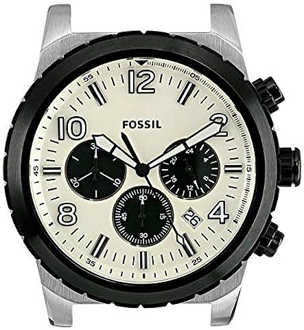 Fossil Men's C241011 Oakman Chronograph White Dial - Chronograph White Dial