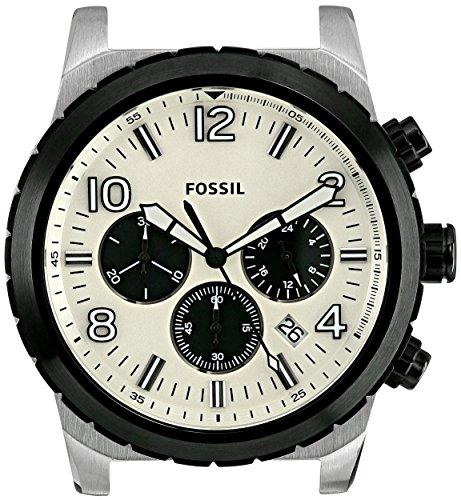 Fossil Men's C241011 Oakman Chronograph White Dial