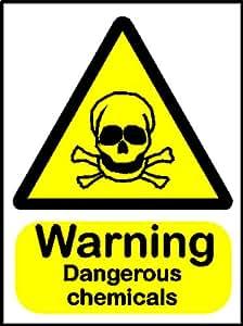 Advertencia de seguridad con texto en inglés: 'advertencia