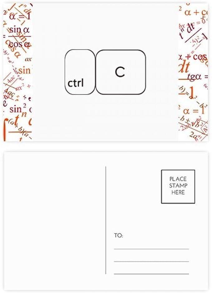 Teclado Símbolo ctrl C Fórmula Postal Set Tarjeta de ...