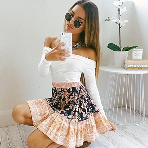 Courtes Casual Blanc Femmes Pull Blouse Top Tight Bustier shirt Knitting Tonsee® T Manches HZIqw4