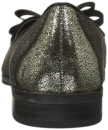 Women's Black Gold Fabric Loafer Klein Anne Dakodah Flat 5BXnAx18