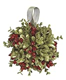 "Ganz 5 Inch Mistletoe Kissing Ball Ornament,Red,5"" Dia."