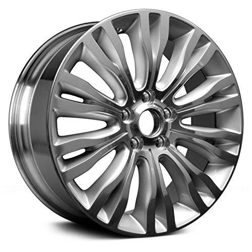 (Replacement 20 Spokes Polished and Silver Factory Alloy Wheel Fits Chrysler 200)