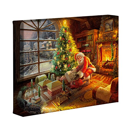 Thomas Kinkade Lionel Santa's Special Delivery - Nature Wall Art