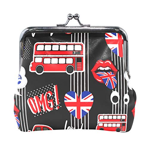 (Coin Purse Abstract Union Jack Heart Car Womens Wallet Clutch Bag Girls Small Purse)