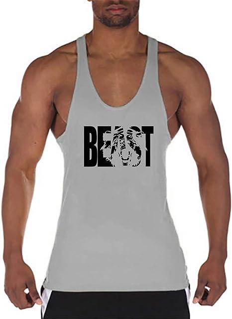 Algodón Sin Mangas Chaleco Sin Mangas Camisetas Tirantes Sports Gym Muscle tee Camiseta Básica Fit para Hombre: Amazon.es: Deportes y aire libre