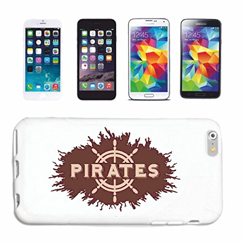 "cas de téléphone iPhone 6S ""PIRATES PIRATE PIRATE PIRATE CORSAIR SKULL SKELETON"" Hard Case Cover Téléphone Covers Smart Cover pour Apple iPhone en blanc"