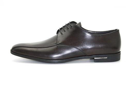 Prada - Mocasines de Piel para hombre Marrón Burned Brown: Amazon.es: Zapatos y complementos