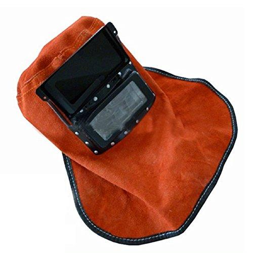 Tasso Comfortable Leather Welder Welding Protective Gear Mask Work Cap Hood Helmet