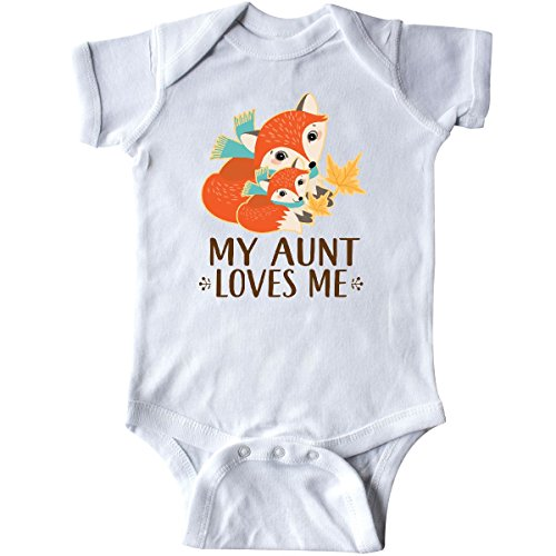 Fox Infant Creeper (inktastic Aunt Loves Me Woodland Fox Infant Creeper 12 Months White 2db19)