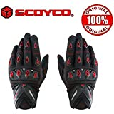 Scoyco Mc10 Bike Riding Gloves (X-Large, Red)