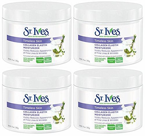 St. Ives Timeless Skin Collagen Elastin Facial Moisturizer, 10 Ounce, (Pack of 4)