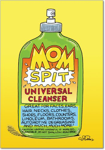 0041 'Mom Spit' - Funny Mother's Day Greeting Card with 5
