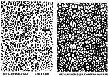 Flexistamps Texture Sheet Set Cheetah Print (Including Cheetah Print and Cheetah Print Inverse)- 2 Pc.