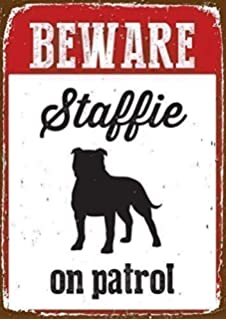 YORKSHIRE TERRIER Dog Gift can also be nailed to gates or fences. for car or house windows High Gloss Plastic Warning Sign 6 x 7 with Suction Sign
