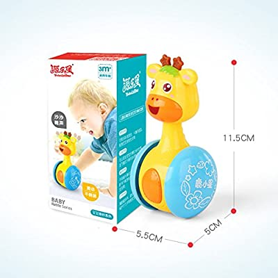 DishyKooker Cartoon Giraffe Tumbler Doll Roly-Poly Baby Toys Cute Rattles Ring Bell Newborns 3-12 Month Early Educational Toy The Latest Stylish,The Best Gift for Family or Friends: Home & Kitchen