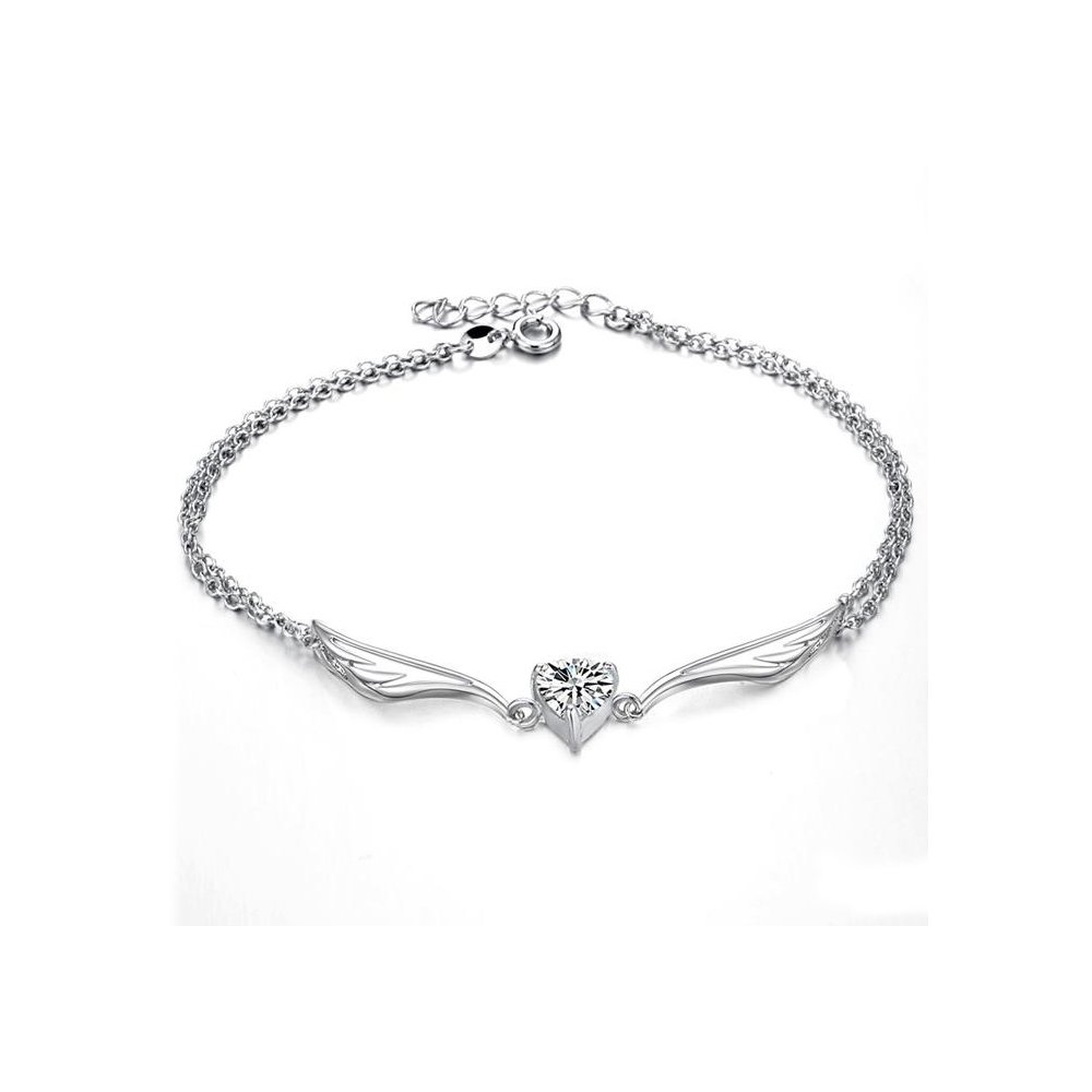 Jewelry Gifts For Her Fashion Anklet Bracelet Beach Foot Jewelry Charm Heart Angel Wings Beads Girls