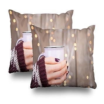 Amazon.com: Pakaku Funda de almohada decorativa para sofá ...