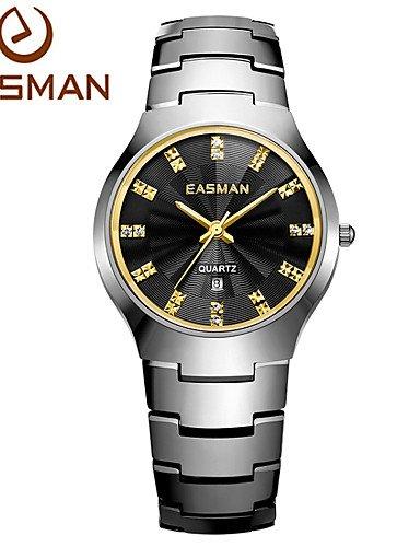 easman Muñeco de marca Reloj Hombres nobles Lujo Relojes Negocios Verano Tipo de cuarzo de pulsera Relojes Hombre Cuarzo Relojes: Amazon.es: Relojes