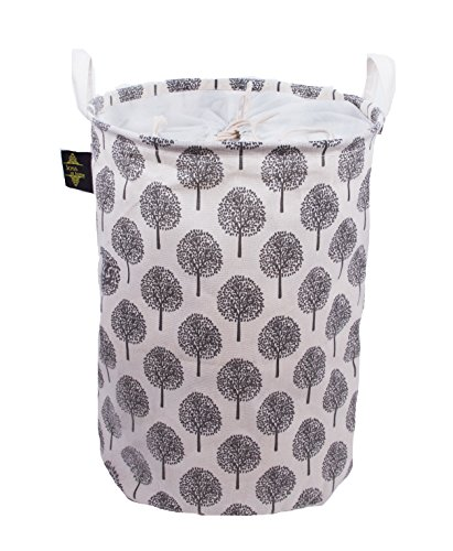 Joss at home Medium (Ivory) Foldable Hamper for Storage - Laundry Basket- Clothes and Toys Organizer (Target Storage Trunk Wicker)