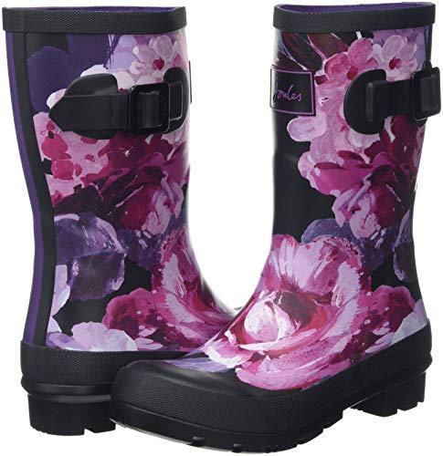 black Blkwtfl Pluie Bottes Tom Joule Schwarz Femme Floral De Winter Mollywelly cUcS6q0