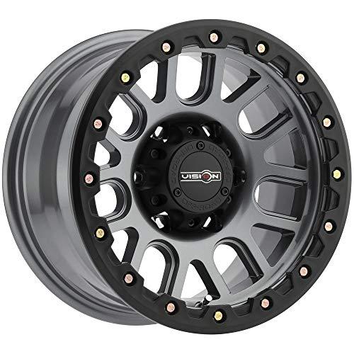 Vision Wheels Nemesis Style: 111, Finish: Gunmetal w/yellow Zinc Bolts, Wheel Size Inches: 17X9 PCD 6-5.5
