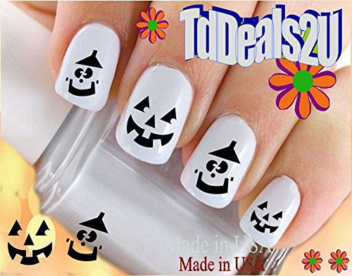 Holiday Halloween - Smiley Pumpkin Face #1 WaterSlide Nail Art Decals - Highest Quality! Made in -