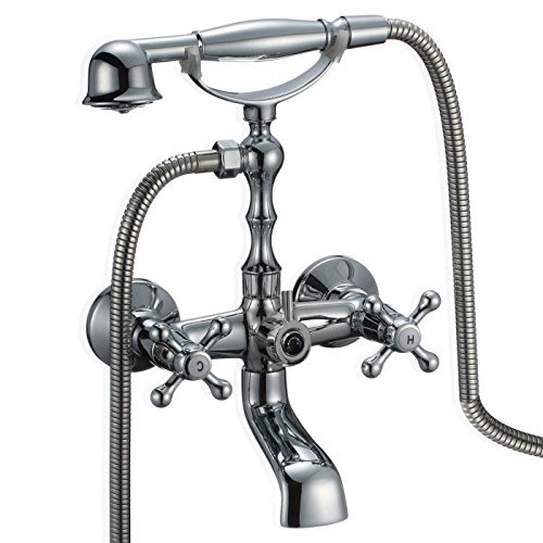FREUER Vasca Collection: Classic Clawfoot Tub Faucet, Polished Chrome