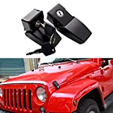 A Pair Locking Hood Look Catch Latches Kit Front Anti-Thief Security for 2007-2017 Jeep Wrangler JK JKU Unlimited Rubicon Sahara X Off Road Sport Exterior Accessories Parts