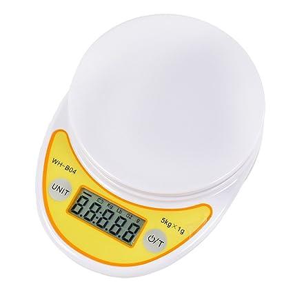 Szaerfa Balanza de cocina pequeña y precisa Pesaje de comida digital Balanzas de pesaje electrónica 5000g