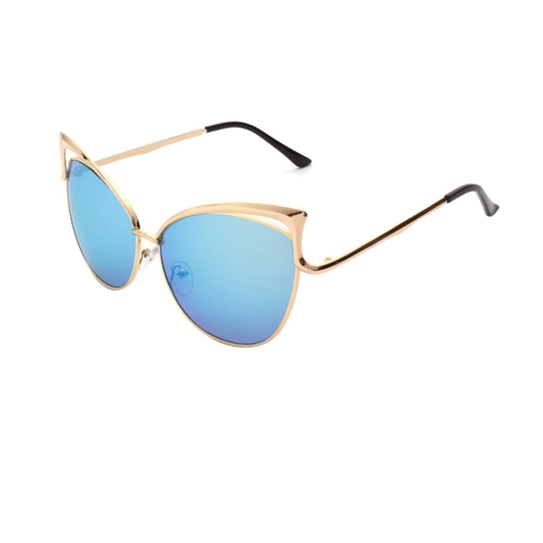 HOBOP ASG700010 Fashion Resin Lens Metal Sunglasses,Metal Frames Non-Polarizer
