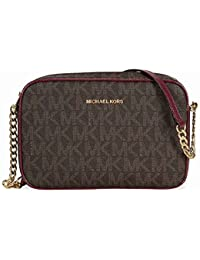 Michael Kors Women\u0026#39;s Jet Set Crossbody Leather Bag, Large