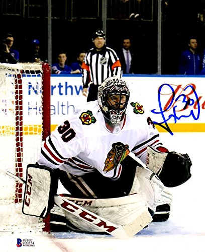 8x10 Photo Blackhawks Chicago - Beckett BAS Jeff Glass Autographed Signed Chicago Blackhawks 8x10 Photo 34-41