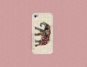 Iphone 4 cases -Vinatge colorful elephant iphone 4s case rubber iphone case I... by icecream design