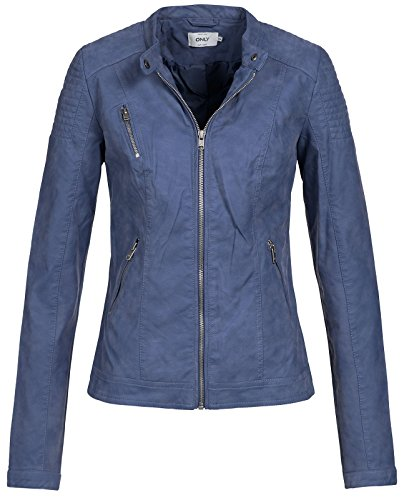 Cc Only Donna Blu Onlsteady Otw Giacca Faux Jacket Leather cH16OHq