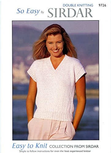So Easy by Sirdar DK Pattern #9726 Easy to Knit Collection Women's Top 30-42
