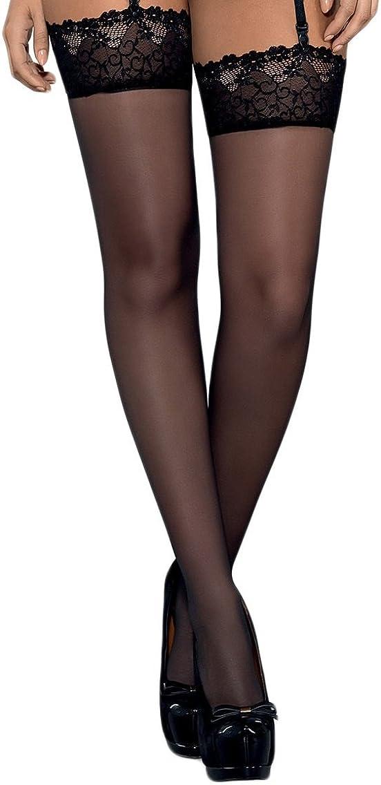 Made in EU Selente Lovely Legs Seducenti Calze per Reggicalze con Dettagli in Pizzo racchiuse in unelegante Confezione Regalo