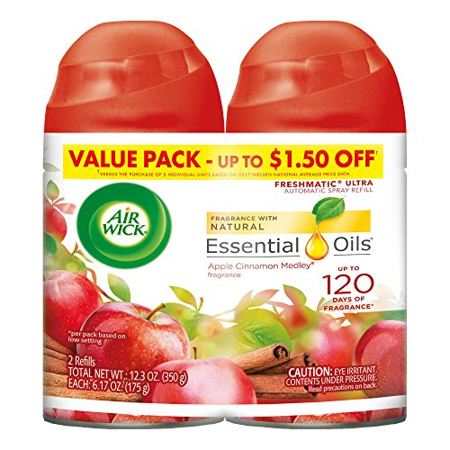 Air Wick Freshmatic 2 Refills Automatic Spray, Apple Cinnamo