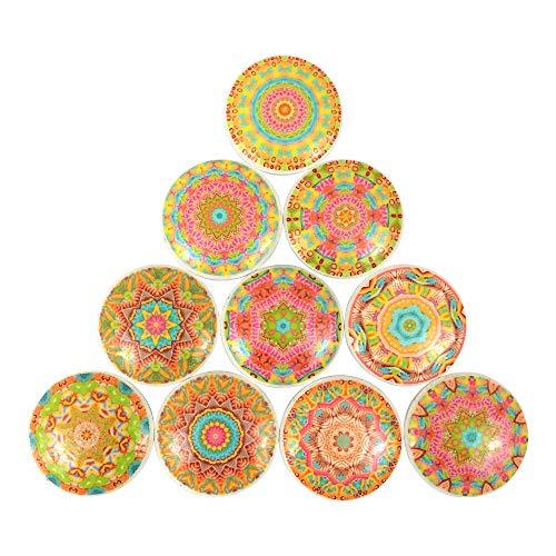 Set of 10 Gypsy Soul Mandala Cabinet Knobs (Set ()