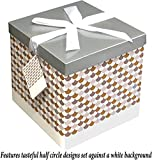 Gift Box 10''X10''X10'' - Sienna Collection - Easy to Assemble & Reusable - No Glue Required - Ribbon, Tissue Paper, and Gift Tag Included - EZ Gift Box by Endless Art US