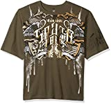 Southpole Men's Short Sleeve Graphic Tee Collection, Olive Wings, 3XB