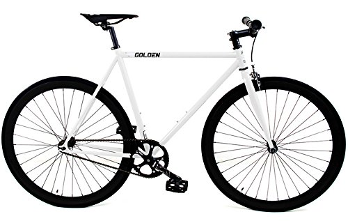 Golden Cycles Fixed Gear Single Speed Fixie Road Bike (Shocker, 48)