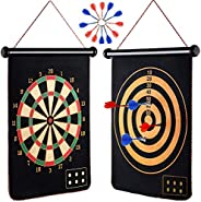 M-Aimee Magnetic Dart Board for Kids, Indoor Outdoor Board Games Set, Best Toys Gift for Boys, Include 12pcs D