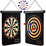 M-Aimee Magnetic Dart Board for Kids, Indoor Outdoor Board Games Set, Best Toys Gift for Boys, Include 12pcs Dart Flights