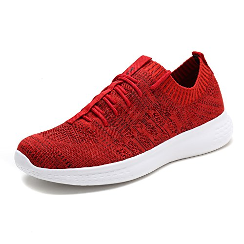 DREAM PAIRS Men's M170889 Red Black Walking Running Shoes Fashion Sneakers Size 9 M US ()