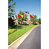 Horizontal Color Diagonal Panel Flag, Yellow/Red, 5' x 3' 2