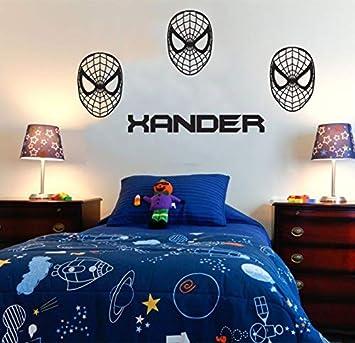 Cool Nombre personalizado personalizado máscara de Spiderman sala ...