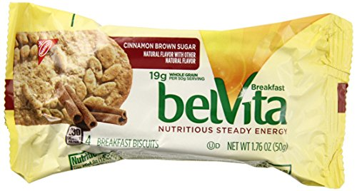 Whole Wheat Sugar Cookies - Belvita Cinnamon Brown Sugar Breakfast Biscuits 19g whole grain, 15-1.76oz, 15 Packs of 4